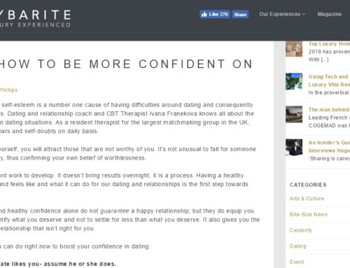 The Sybarite- '5 Tips On How To Be More Confident On A Date'